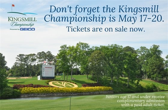 Kingsmill Championship is May 17-20