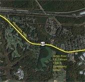 map of Pocahontas Trail Corridor Study area