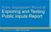 Round 2 Public Engagement Summary Report