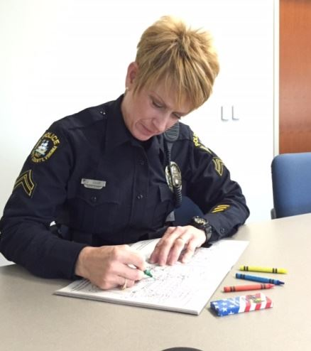 Police officer coloring
