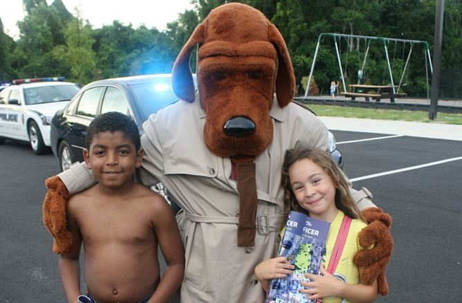 Kids with McGruff