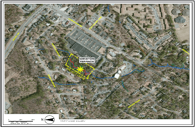Winston Terrace Stream Restoration Map