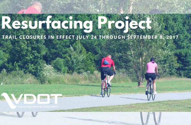 Resurfacing Project Trail Closures in Effect July 24 Through September 8, 2017