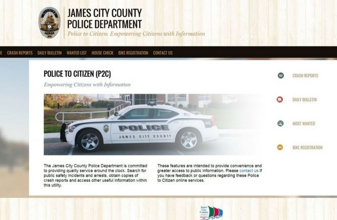 Police to Citizen Contact Website