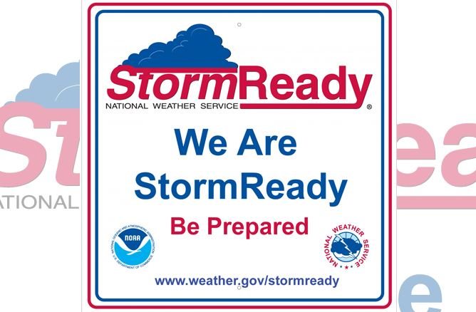 We Are StormReady Sign
