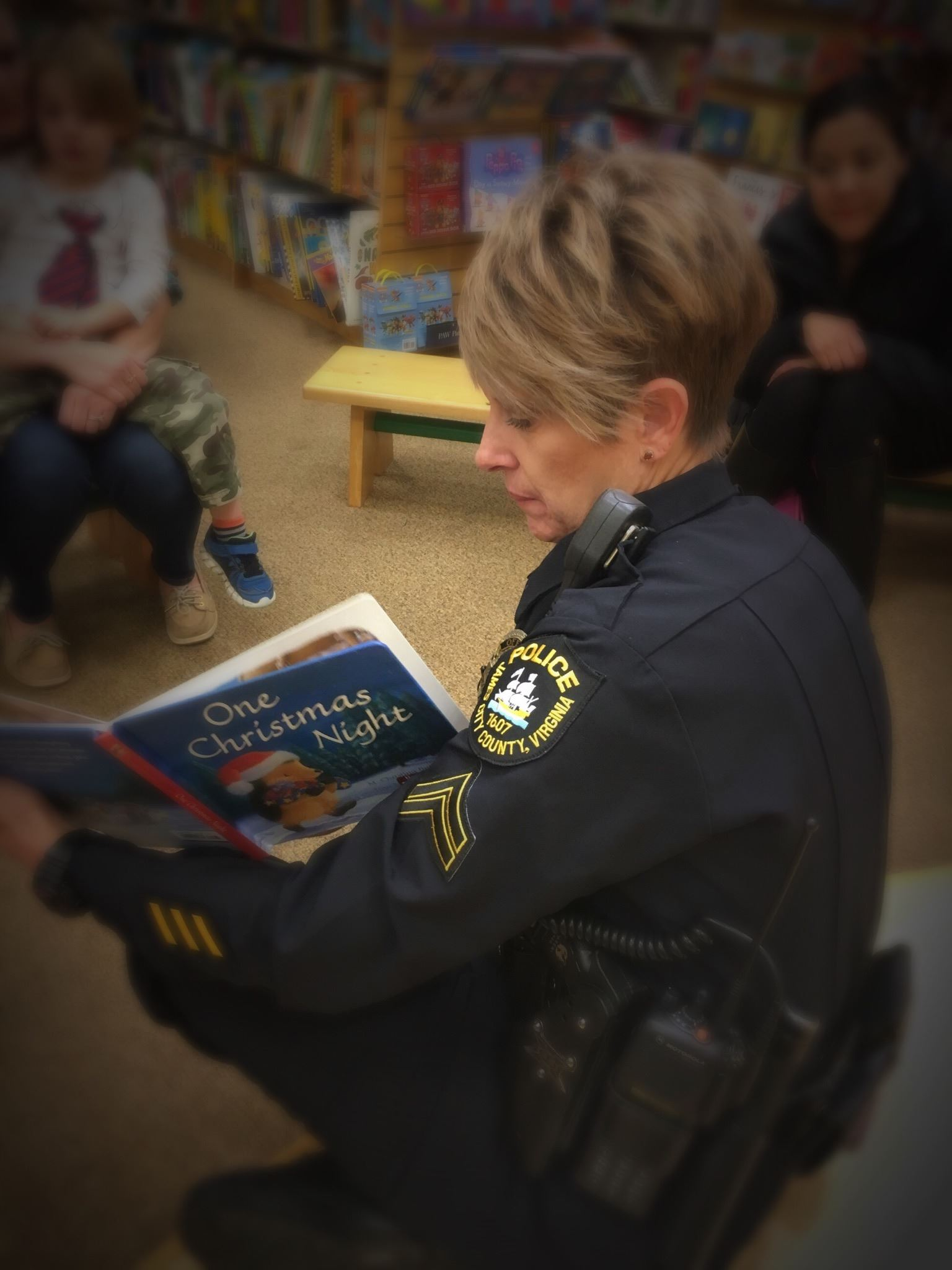 Coloring & Reading With a Cop