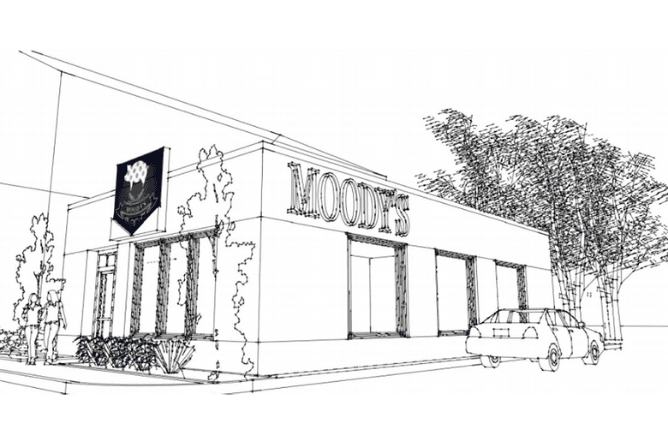 Moody's Kitchen exterior rendering