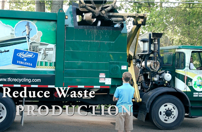 Reduce Waste Production recycling truck