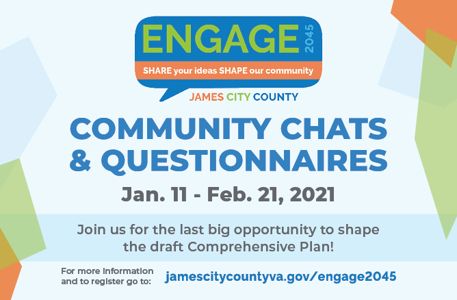 community chats and questionnaires Jan. 11 Feb. 21 2021