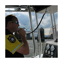 Marine Patrol Officer on the Water
