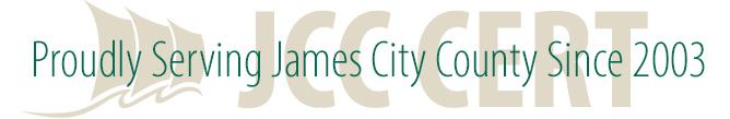 JCC CERT proudly serving James City County since 2003